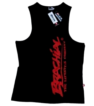 "Brachial Tank Top ""Heat"" Sort/Rød"