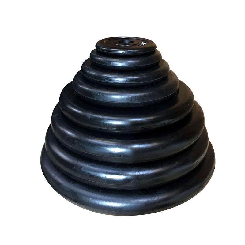 Gummiarmeret vægtskiver