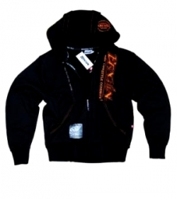 "Brachial Zip-Hoody ""Signature"" Sort/Orange"