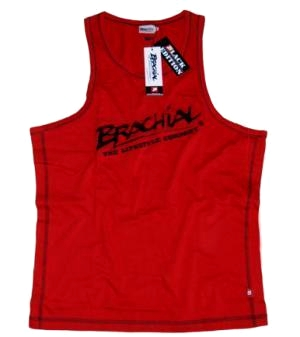 "Brachial Tank Top ""Sign"" Rød/Sort"