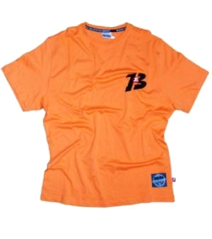 "Brachial T-Shirt ""Sky"" Orange/Sort"