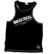 "Brachial Tank Top ""Cool"" Sort/Hvid"