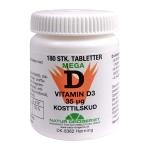 D Mega Vitamin 35mcg 180 stk. Naturdrogeriet