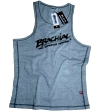 "Brachial Tank Top ""Sign"" Gråmeleret/Sort"